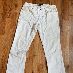 Ralph Lauren Madison White Jeans